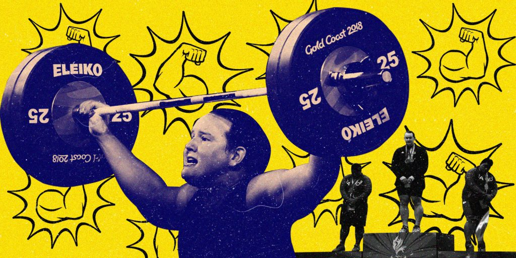Biological male dominates in women's weightlifting, revealing gross inequity