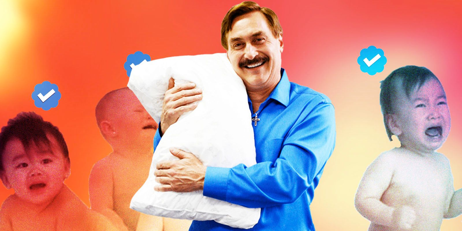 The media mocks the My Pillow guy as he helps save America