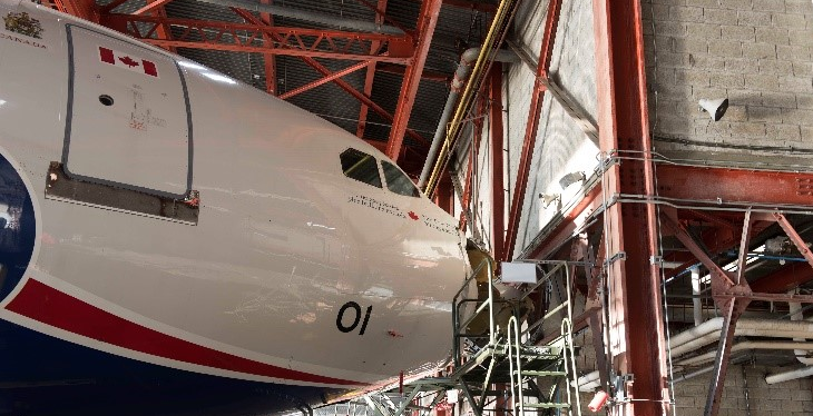 Royal Canadian Air Force crashed PM's plane in hangar