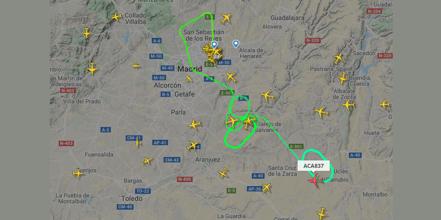 Air Canada plane makes emergency landing in Madrid following ruptured tire