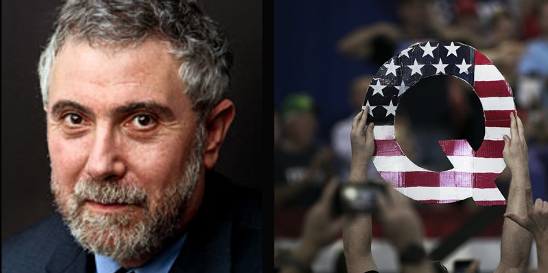 NYT columnist Paul Krugman claims child porn on his computer 'could be' Qanon