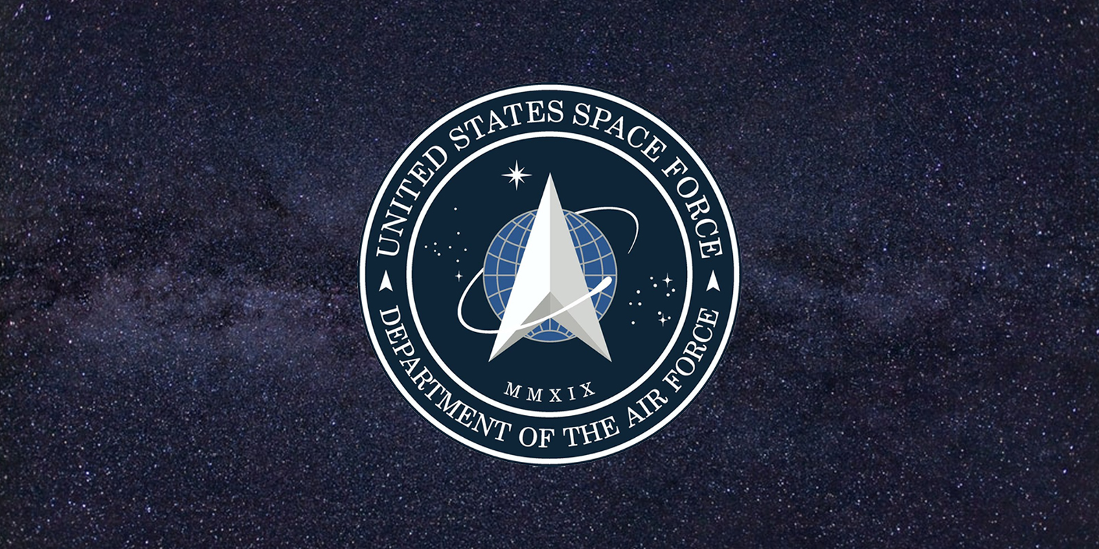 Donald Trump tweets the logo of the United States Space Force