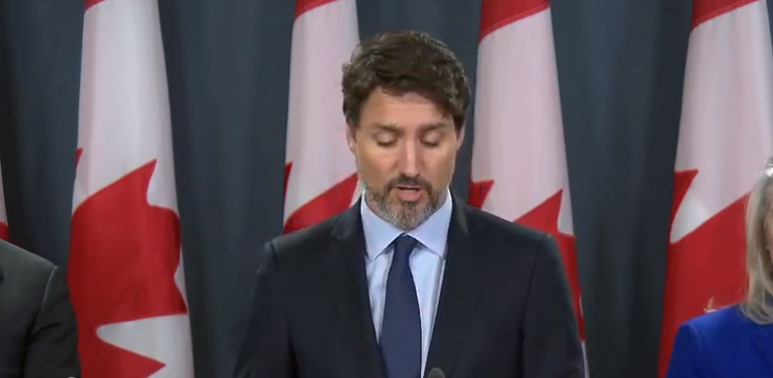 Prime Minister Justin Trudeau addressed media in Ottawa today, regarding downed passenger flight PS752, which saw the tragic death of 176, including 57 Canadians.
