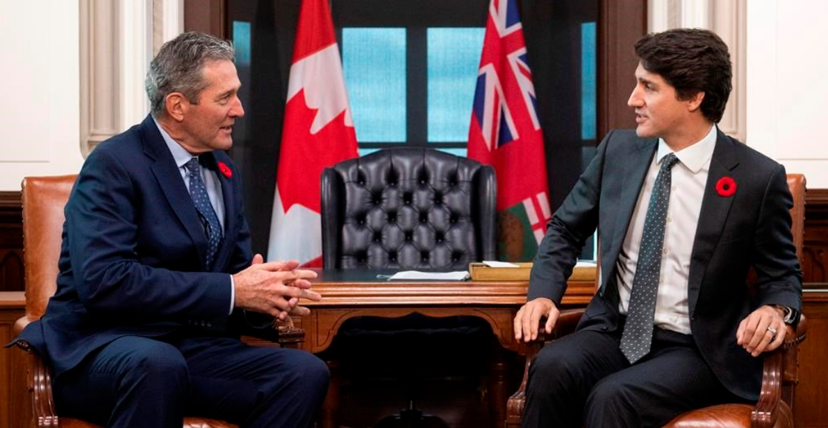 "During a meeting in Ottawa, Manitoba Premier Brian Pallister gave some ""friendly advice"" to Justin Trudeau"