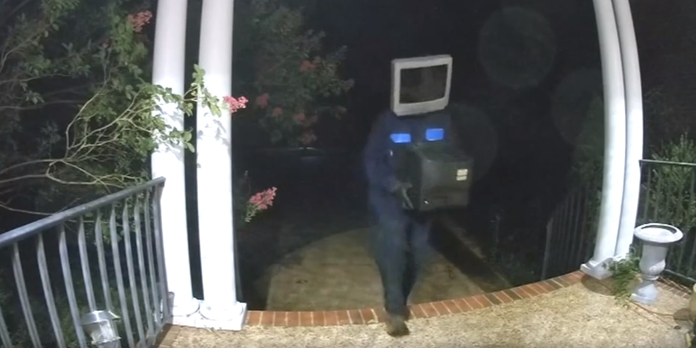 TV-headed prankster drops off old televisions on neighbours' porches