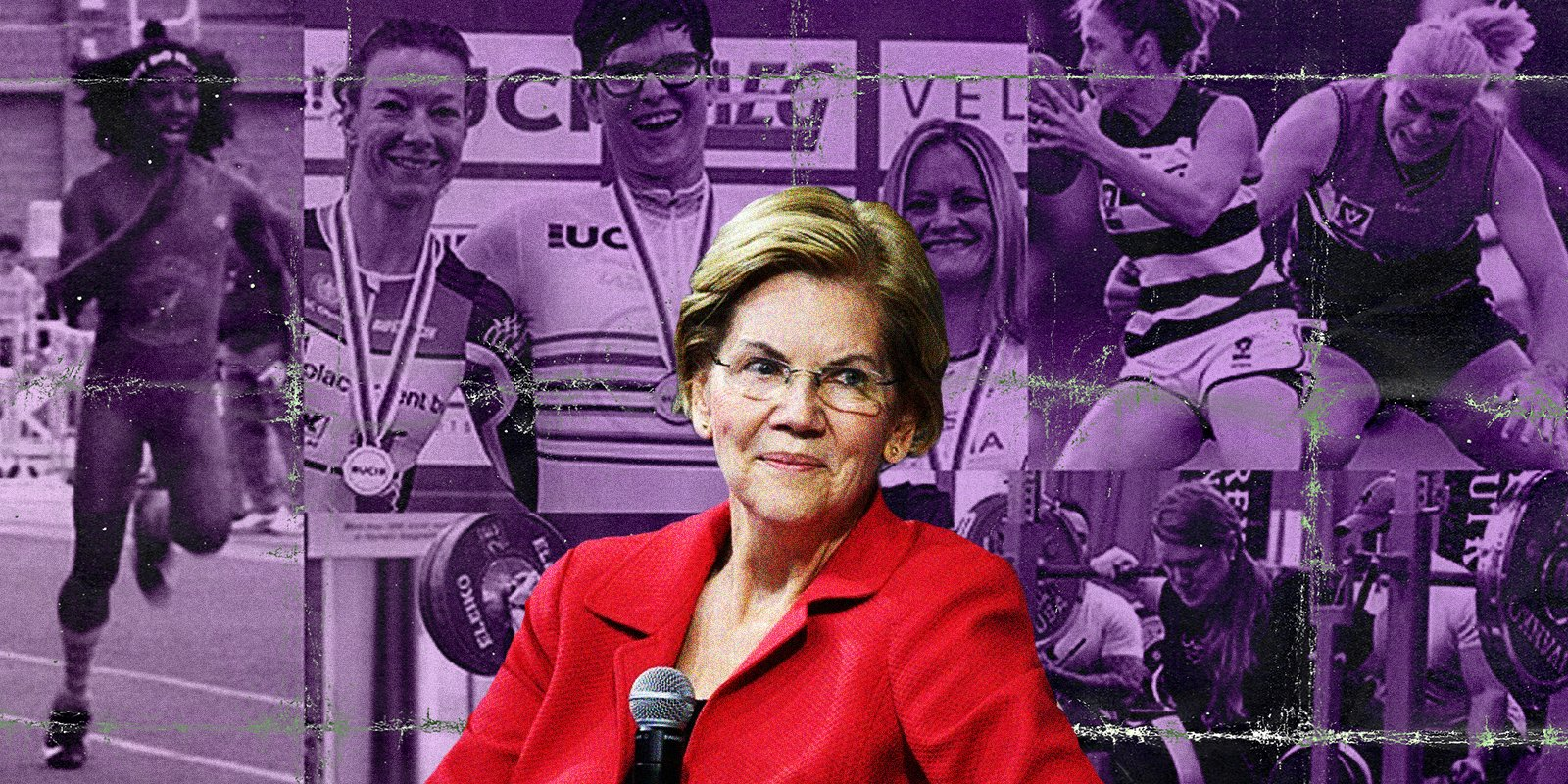 Elizabeth Warren has come out in support of biological male athletes competing with women despite the obvious physical advantages they possess.