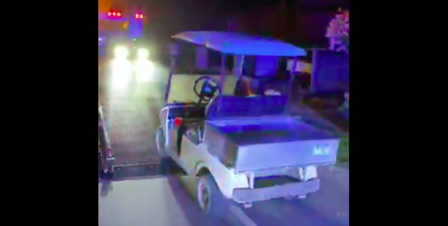 Suspected drunk driver pulled over in golf cart sporting bathrobe and slippers in BC