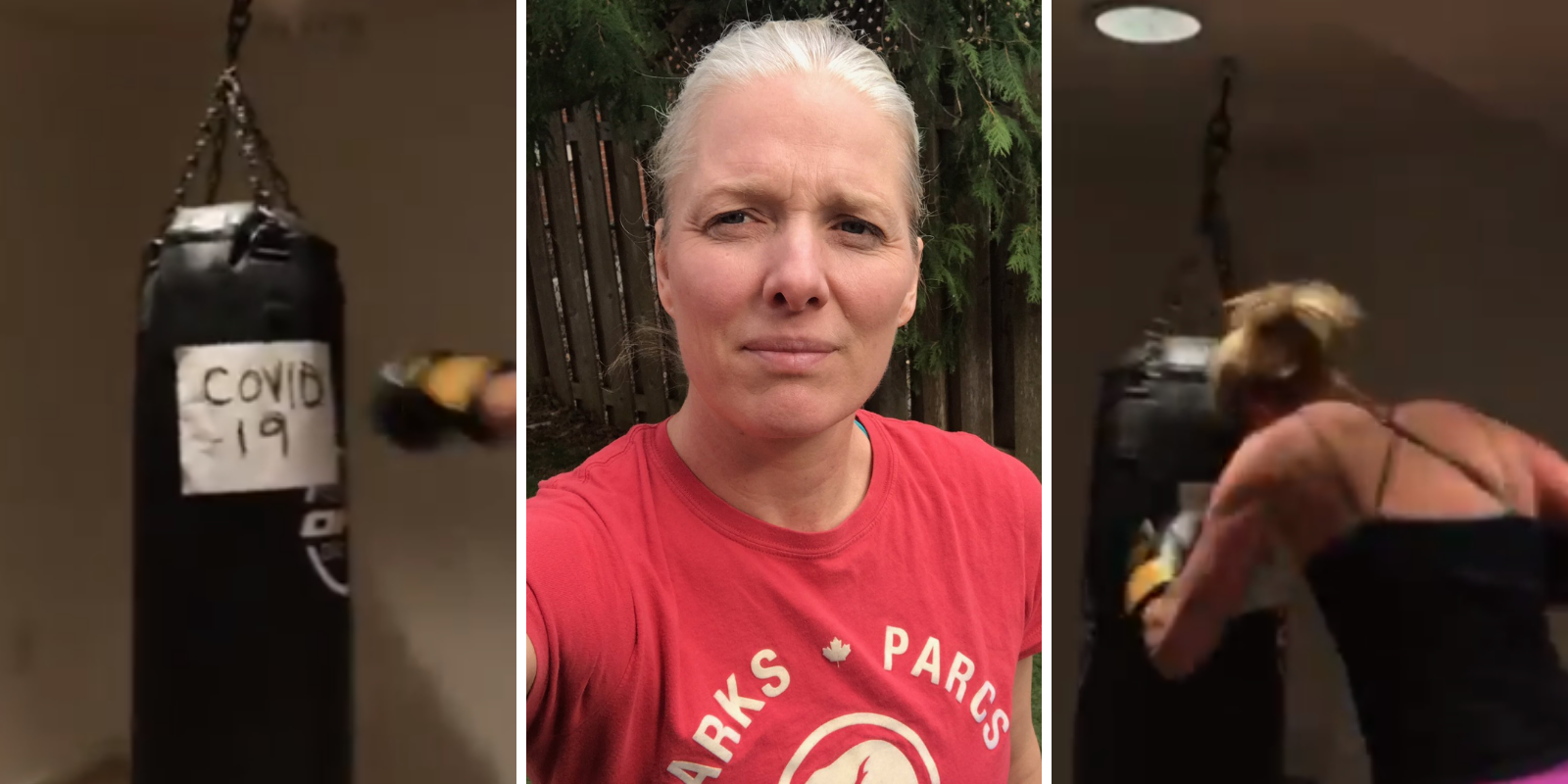 WATCH: Liberal minister posts bizarre video of her boxing with punching bag that says 'COVID-19'