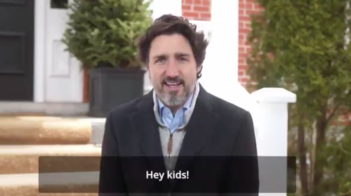WATCH: Now Justin Trudeau is asking children to tweet at him so he can help with their homework