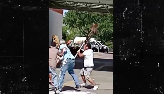 WATCH: Home Depot customers get in epic paint fight in parking lot