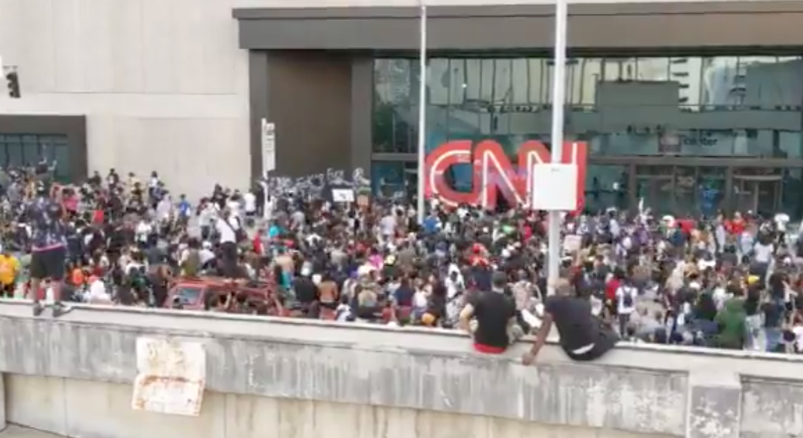 BREAKING: CNN headquarters attacked by rioters in Atlanta