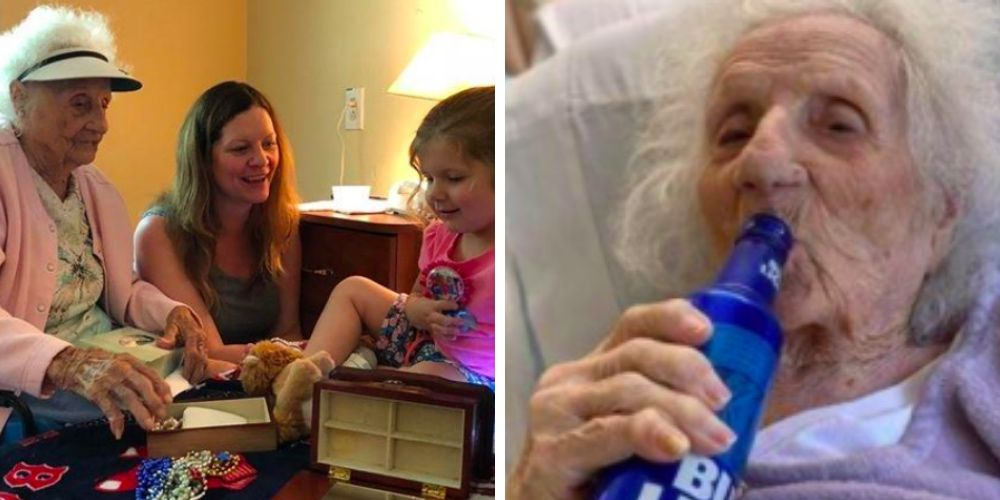 103-year-old woman survives coronavirus and celebrates with a beer