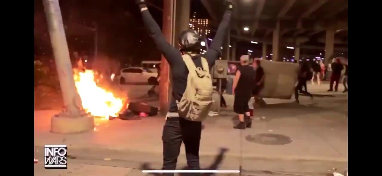 Community rallies around homeless man whose possessions were torched by antifa