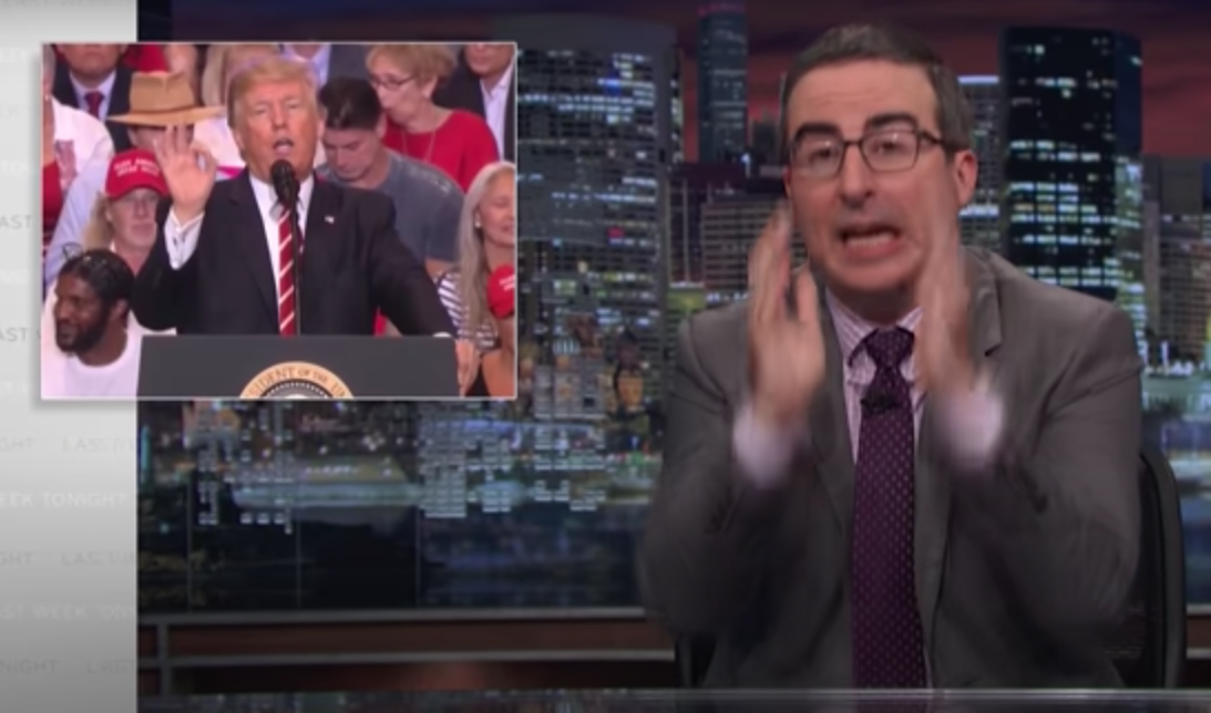 WATCH: John Oliver mocked Trump in 2017 for suggesting Washington and Jefferson statues would fall
