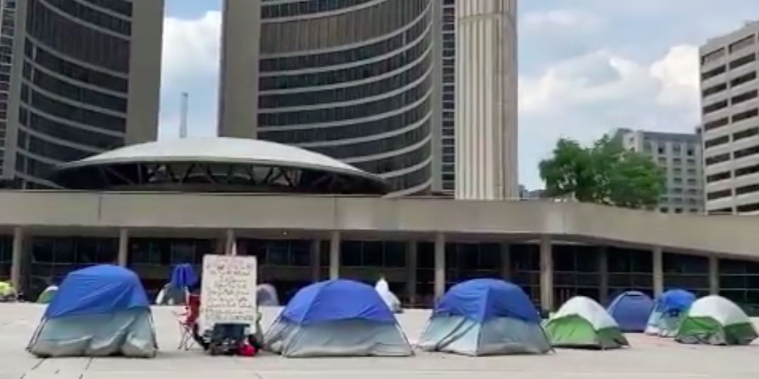 Toronto's Nathan Phillips Square occupied for sixth day