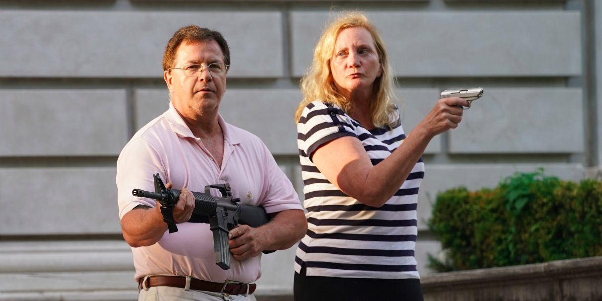 Armed St. Louis couple who defended their home from angry mob speaks out