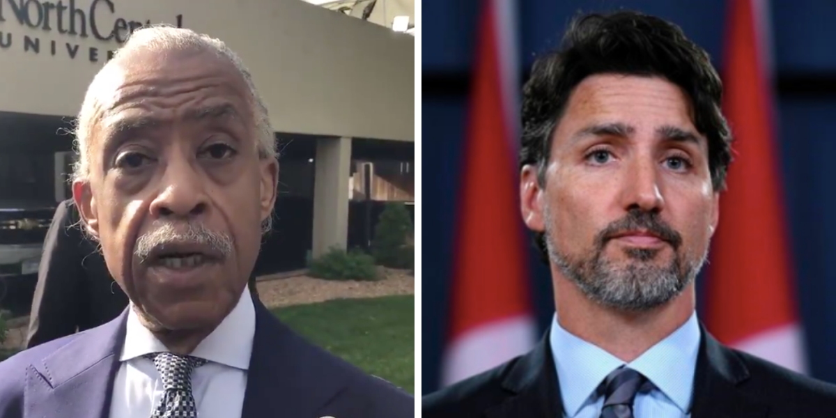 Rev. Al Sharpton takes a crack at Trudeau for 21 second pause