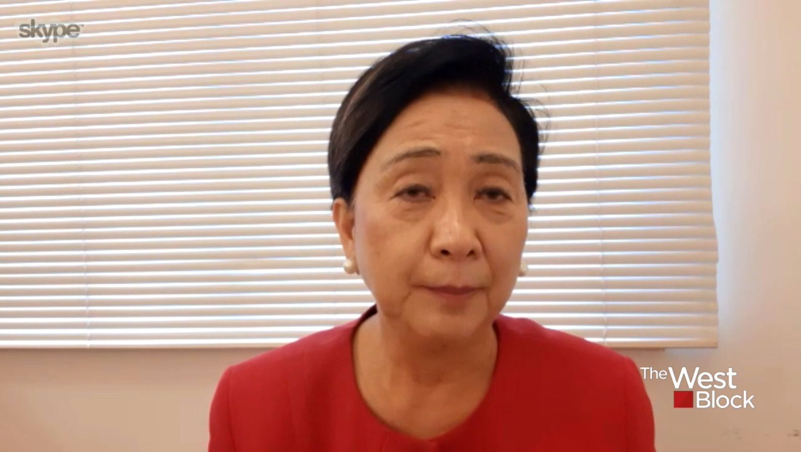 """Hong Kong activist asks western nations to defend the city against China. """"While we are here, we will fight,"""" she said."""