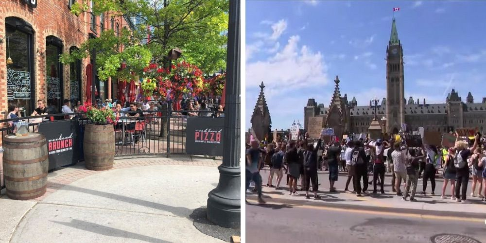 Ottawa restaurant fined for allowing patrons to wait on patio—days after thousands protest nearby