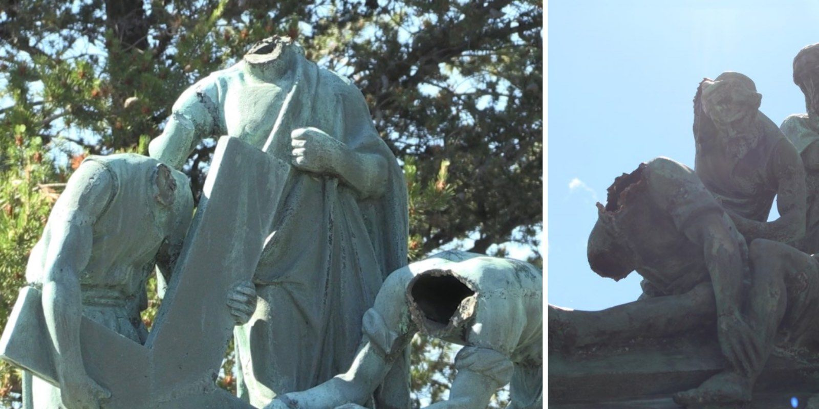 Six Christian statues beheaded in Ontario