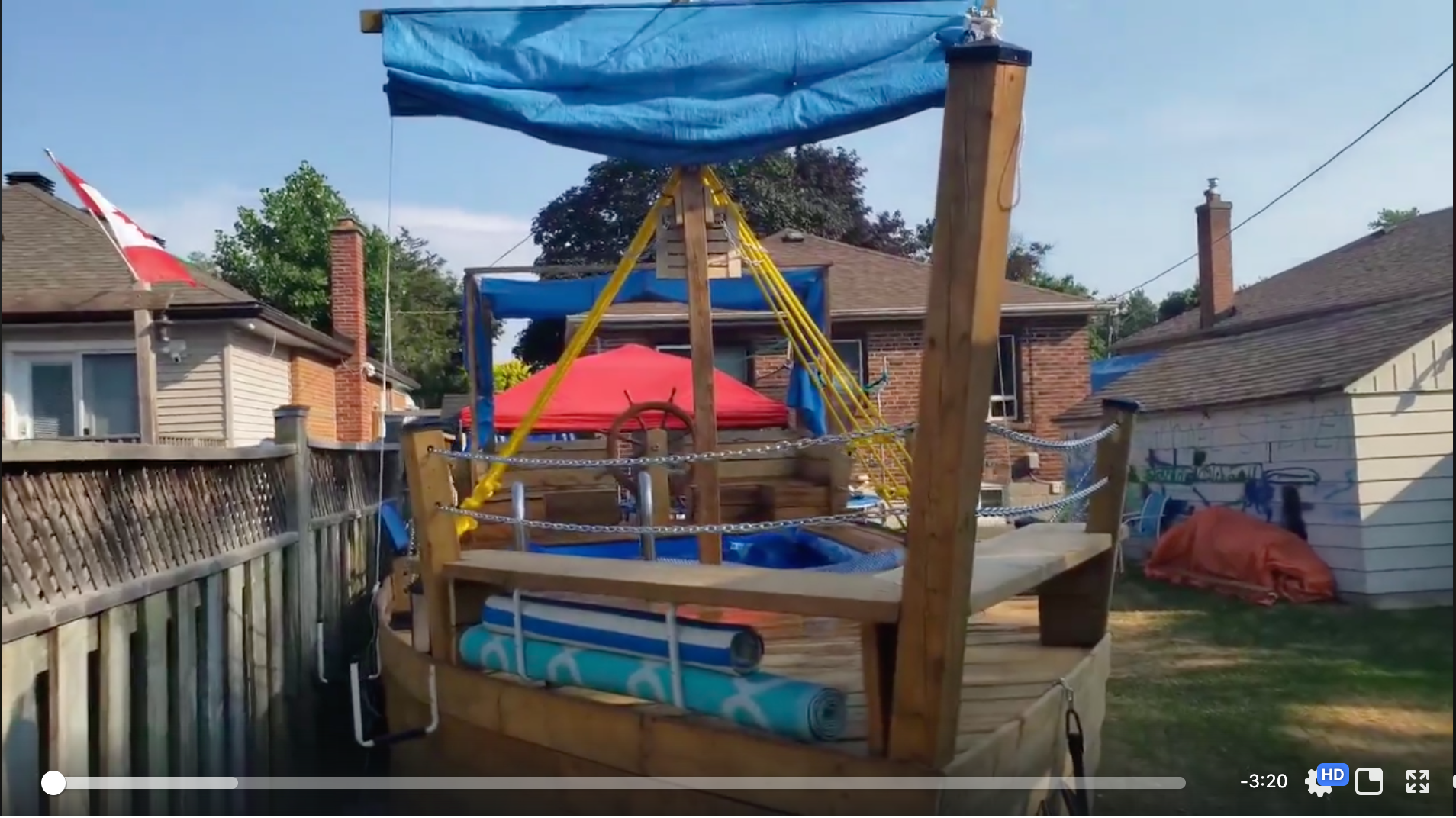 Toronto family builds backyard pirate ship but the city forces them to dismantle it