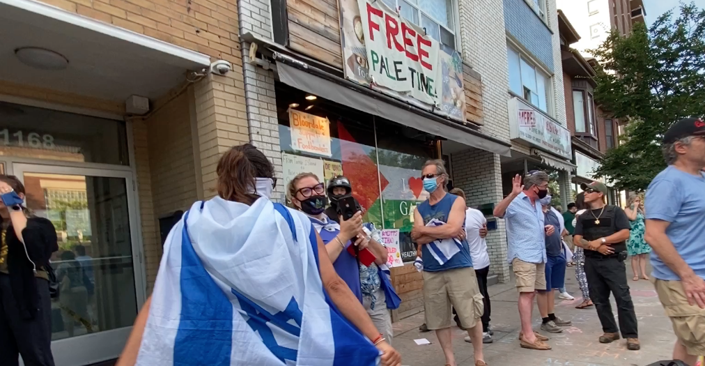 Protestors rage outside anti-Semitic food store in Toronto; Doug Ford and Uber Eats respond