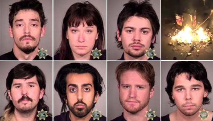 Seven Antifa militants face federal charges after arrests in Portland