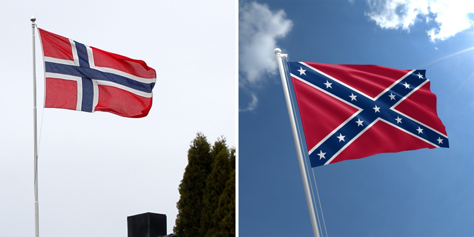 Norwegian flag removed from bed and breakfast after locals think it's a Confederate flag