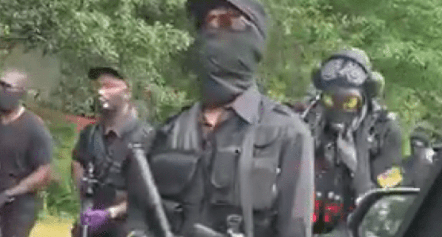 Armed black nationalist group promises violence against right-wing militia