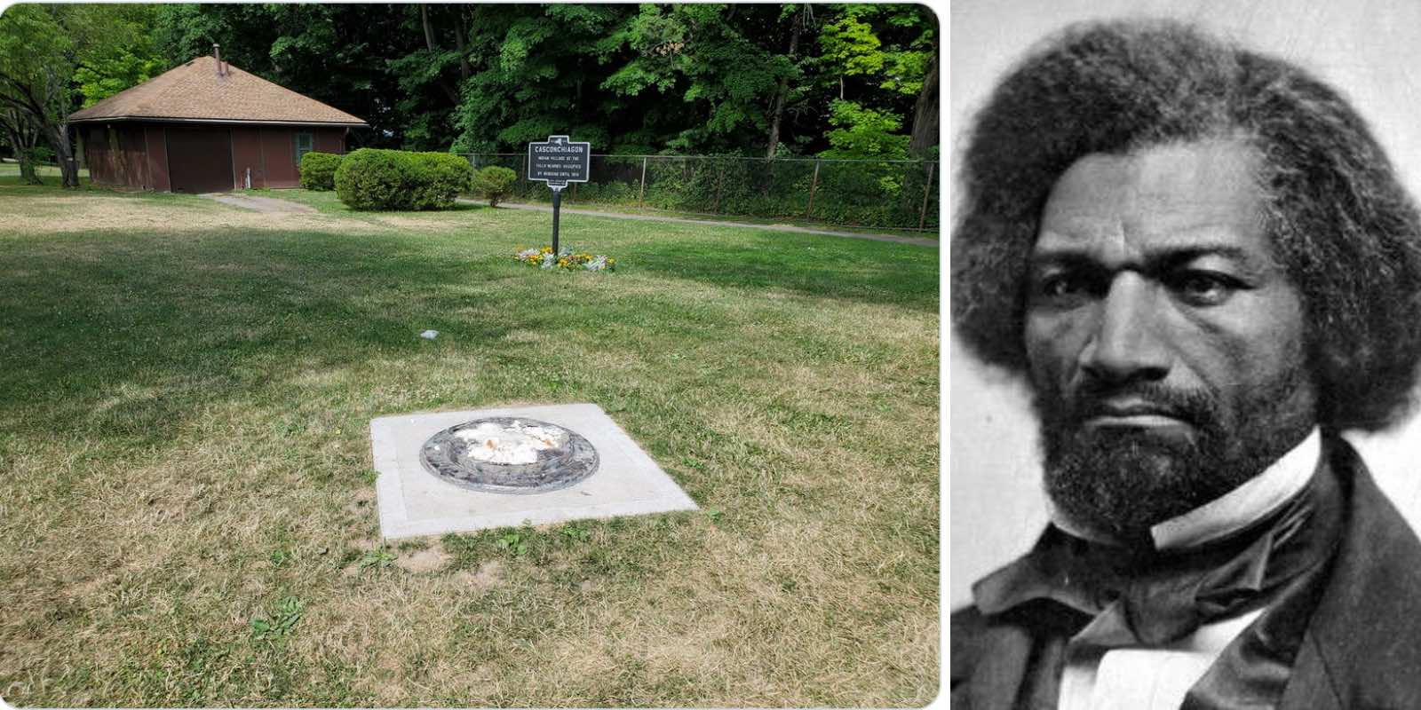 Statue of celebrated orator and abolitionist Frederick Douglass vandalized and toppled
