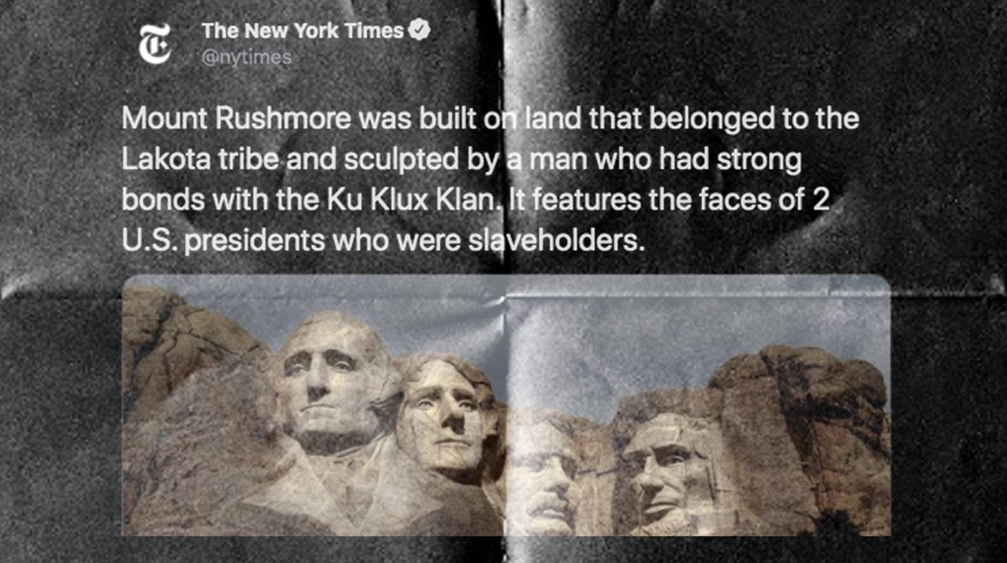 As the Fourth of July approaches, The New York Times compares America to Nazi Germany and tries to cancel Mount Rushmore