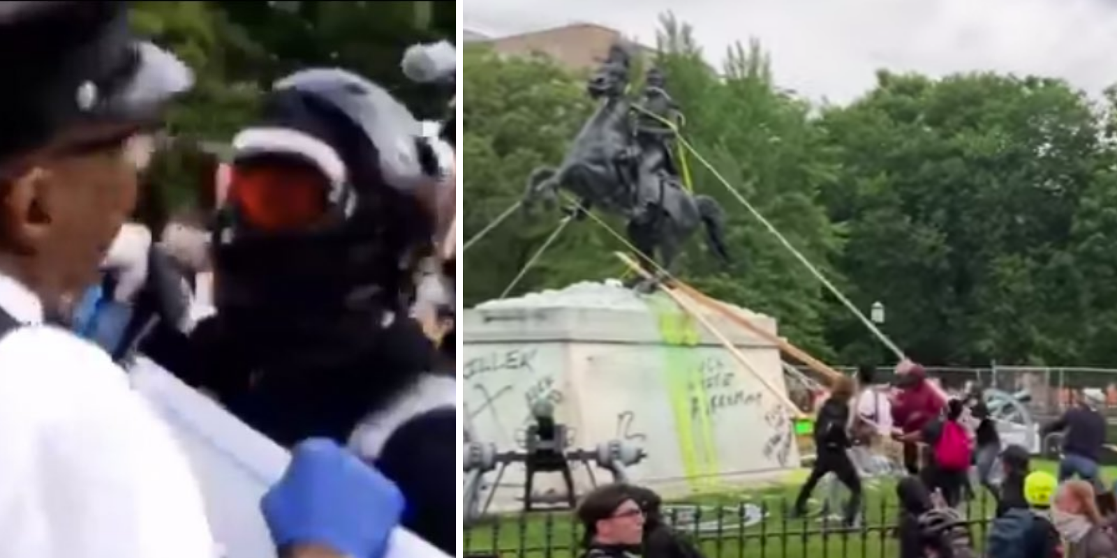 Violent Antifa militant arrested by FBI as 'ringleader' of attempt to topple statue of Andrew Jackson