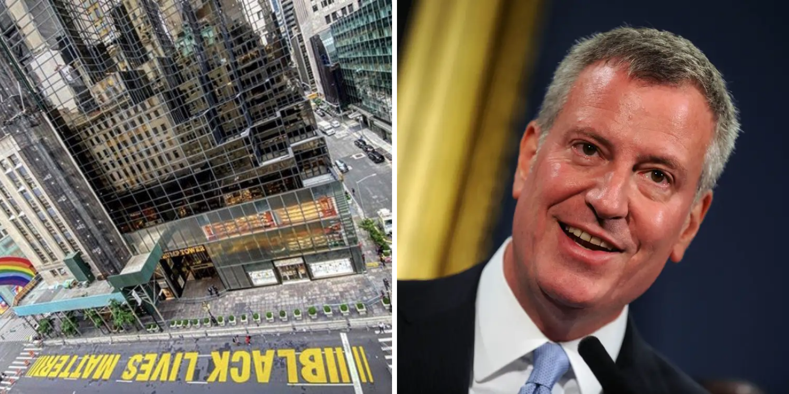 Bill de Blasio uses police to guard 'Black Lives Matter' mural as NYC violence continues
