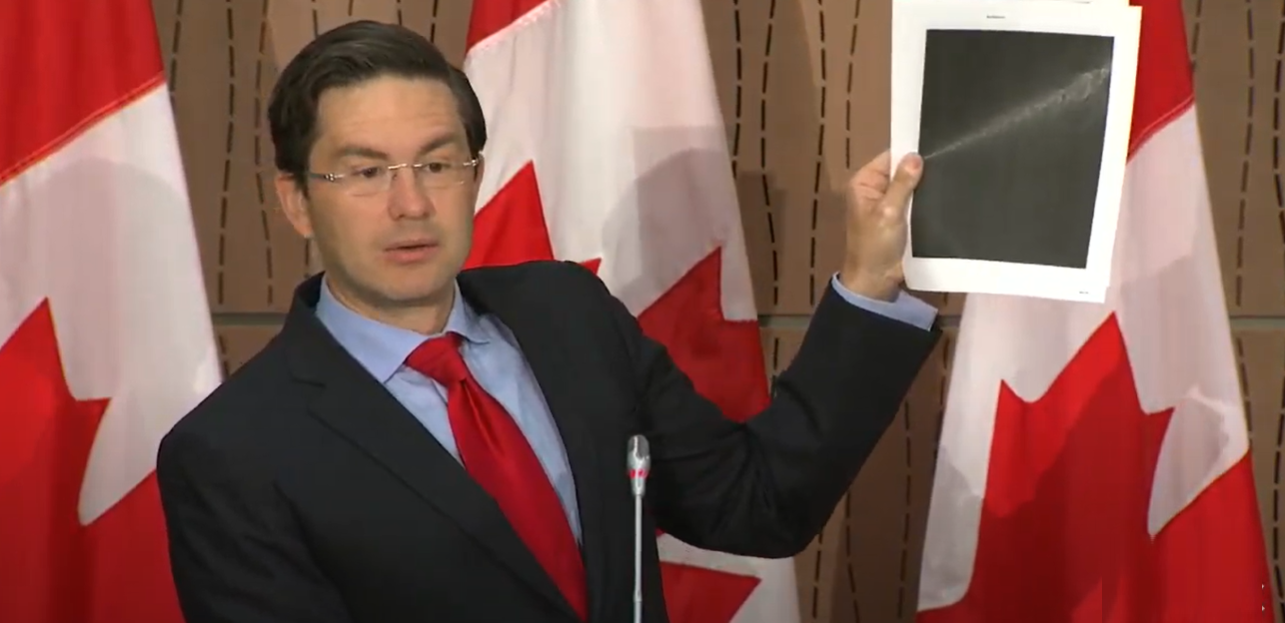 WATCH: Poilievre rips Trudeau for attempted cover up, blacked out WE Charity documents