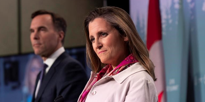 BREAKING: Trudeau selects Deputy PM Chrystia Freeland for Finance Minister