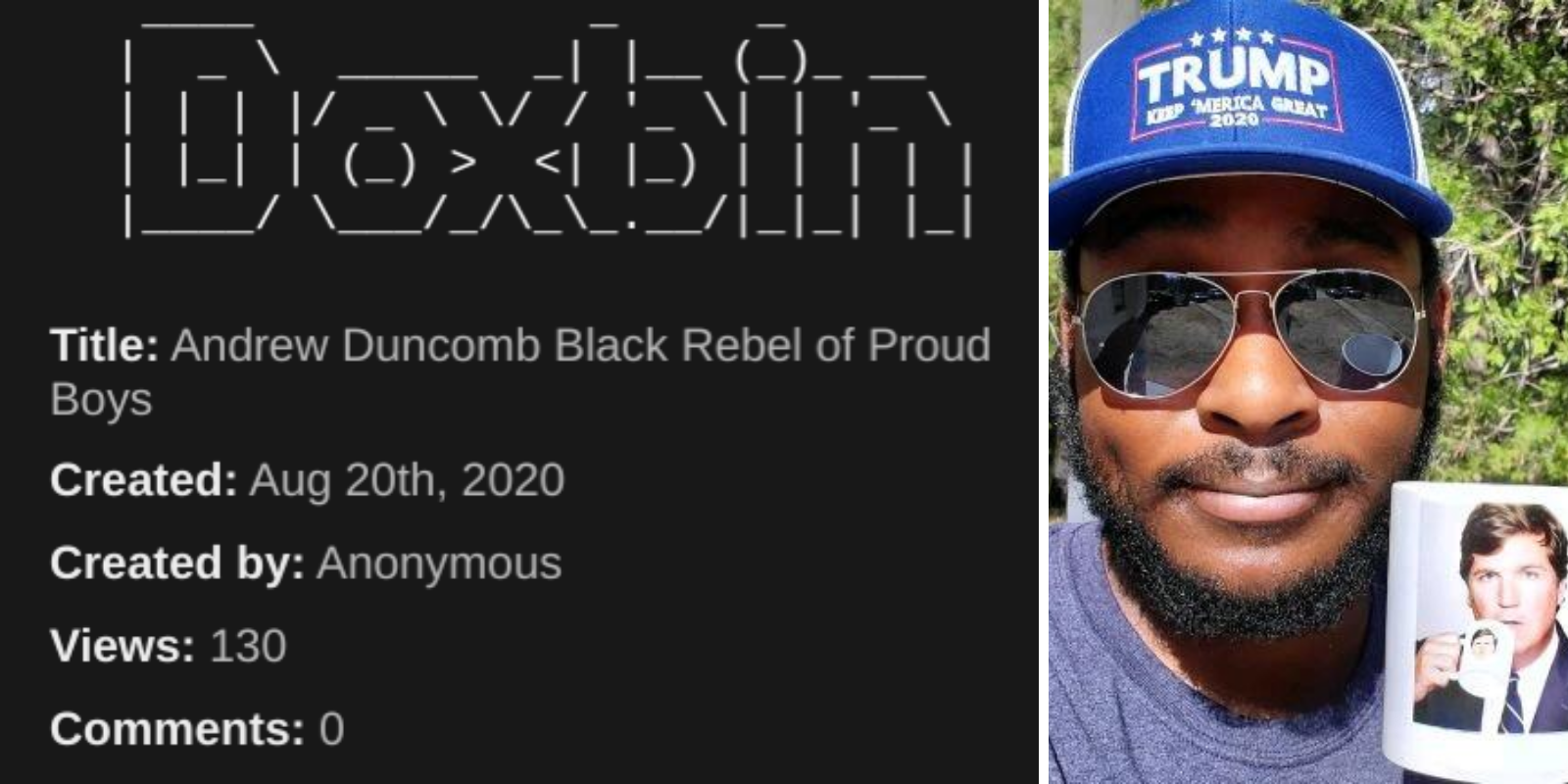 Antifa doxxes the family of black Trump supporter stabbed by Antifa militant in Portland