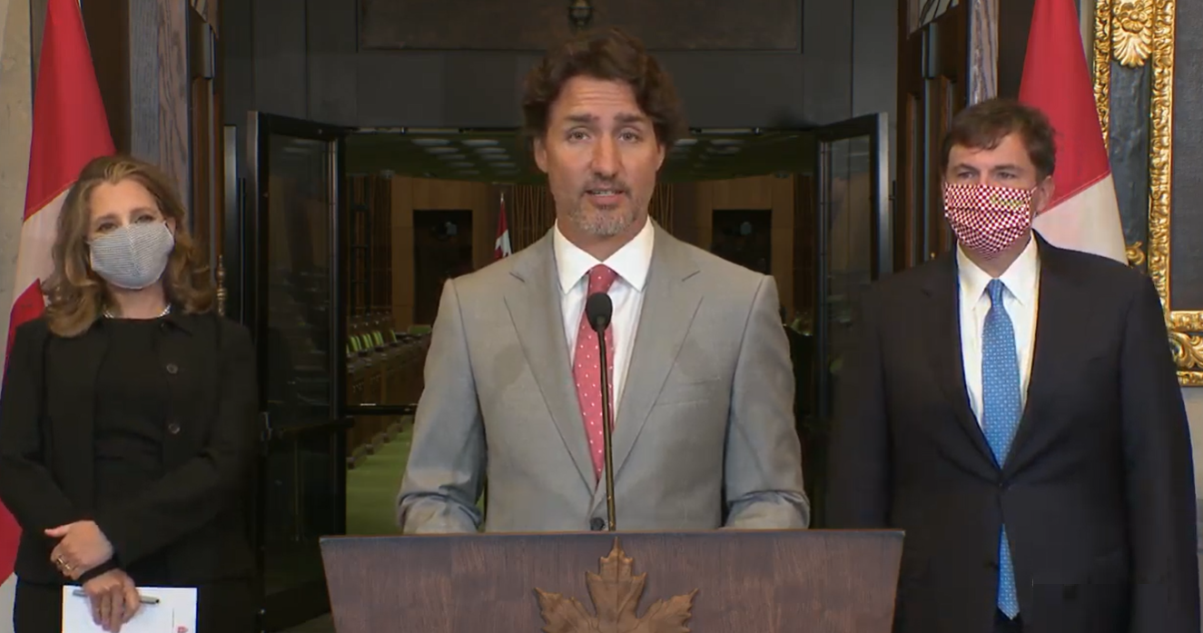 Trudeau says Canadians more focused on plan to address health crisis than on WE Charity scandal