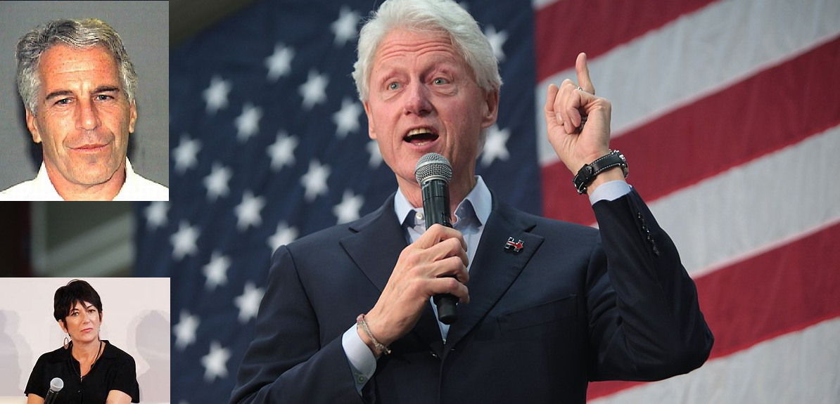 The liberal media is ignoring new bombshell photos of Bill Clinton getting a massage from Epstein's victim