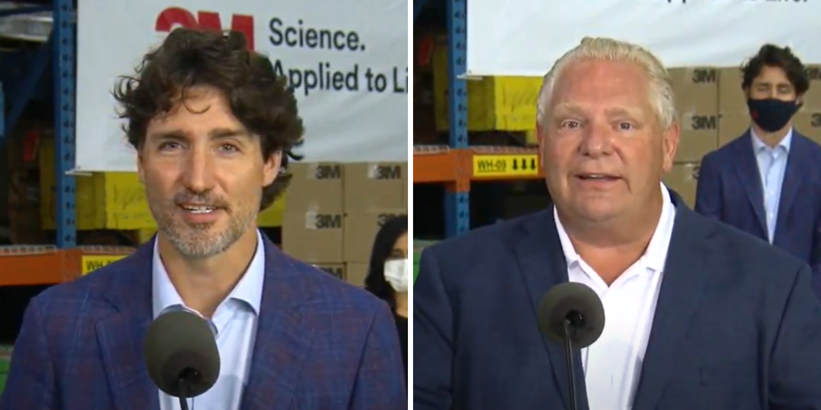 Trudeau dismisses severity of WE scandal at press conference with Premier Ford