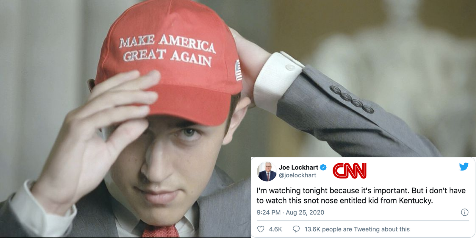 CNN maniacs lose their minds over Nick Sandmann's powerful speech calling them out