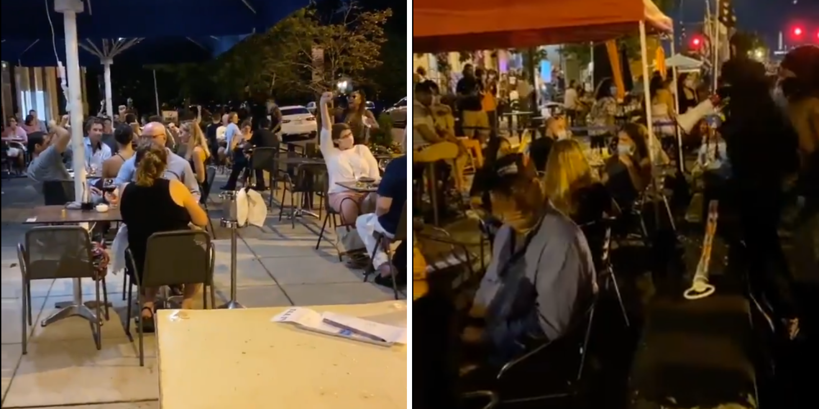 WATCH: BLM activists harass and berate diners at DC restaurants