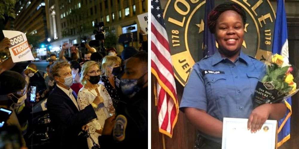 BLM mob demand Rand Paul say Breonna Taylor's name—he authored the Justice for Breonna Taylor act