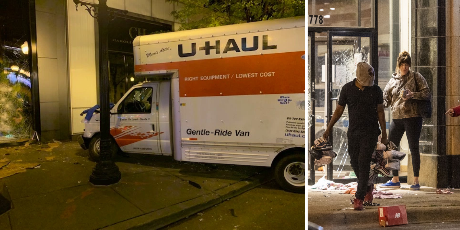 'Coordinated' looters use U-Hauls to rob stores