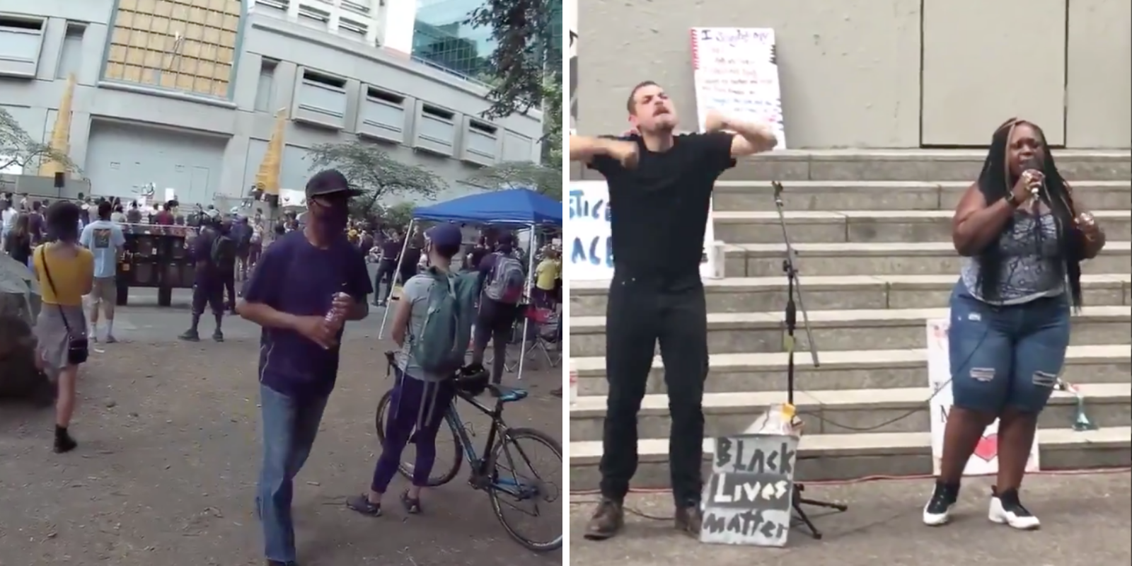BLM speaker in Portland says police should have been strangled by their umbilical cords and she's ready to shoot them