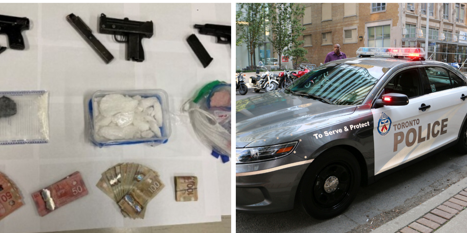 Toronto police seize large cache of drugs and weapons