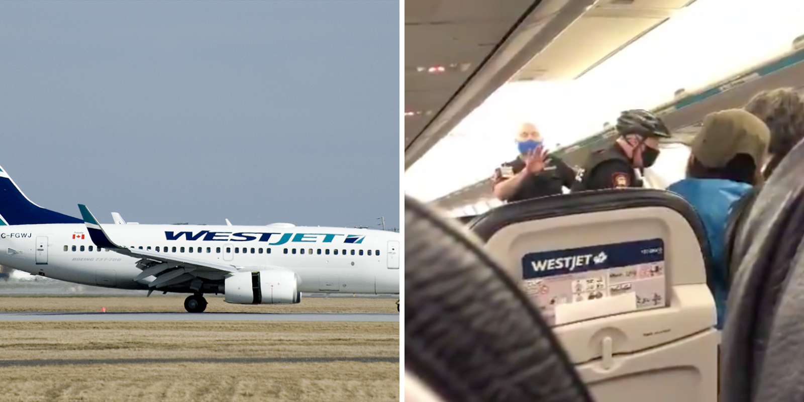 WATCH: WestJet grounds flight after attendant attempted to force face mask on 19-month-old baby