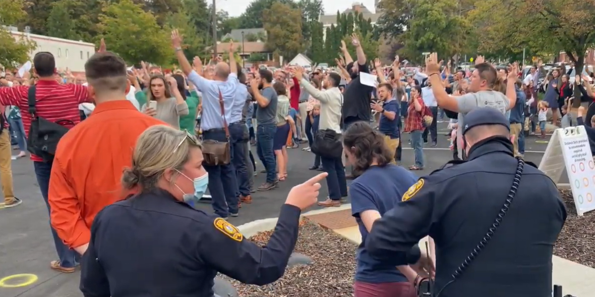 WATCH: Christians in Idaho arrested for singing hymns without 'social distancing'