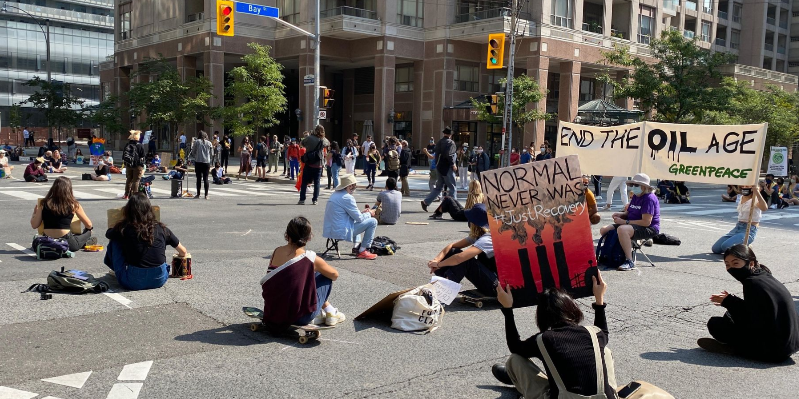 BREAKING: Climate activists block downtown Toronto streets with 'sit-in' for 'climate justice'