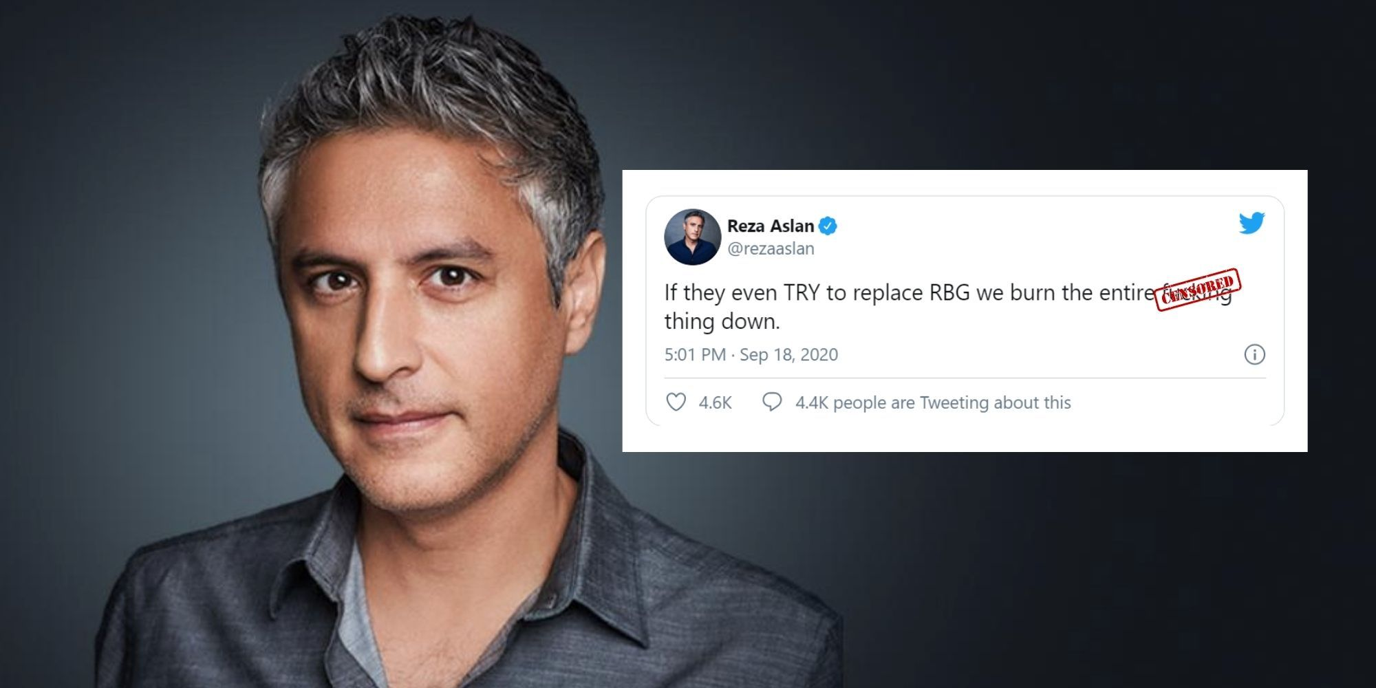 Disgraced former CNN host threatens violence if Republicans follow the constitution and replace RBG