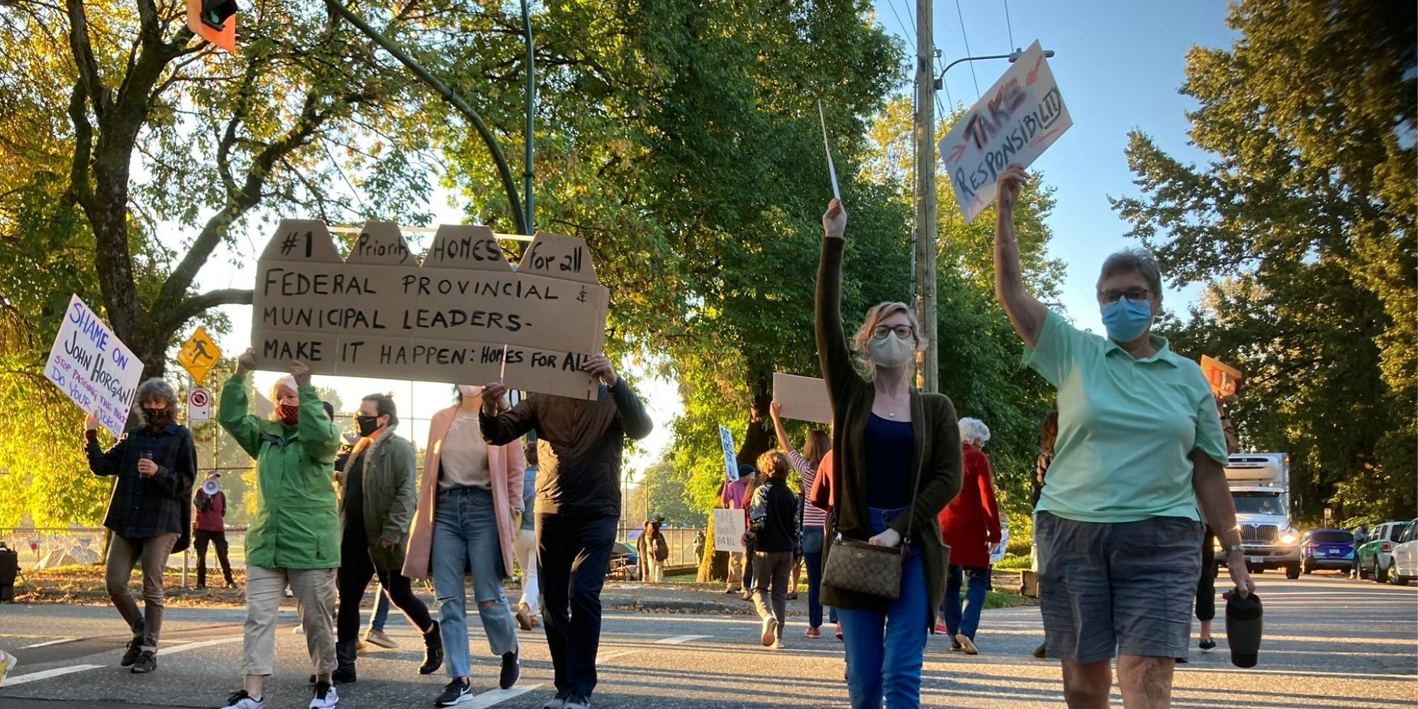 Vancouver residents protest against rising crime and homelessness